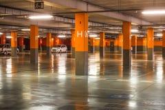 Parking underground garage interior in apartment house or in supermarket.  Stock Image