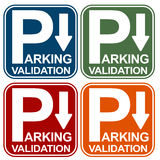 Parking Validation Sign Stock Images