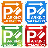 Parking Validation Ticket Sign Royalty Free Stock Images