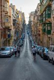 Parking in Valletta narrow streets Stock Image