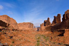 Parking view in arches natinal park Royalty Free Stock Photography