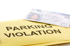 Parking violation Stock Photo