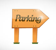 Parking wood sign illustration design Royalty Free Stock Photos