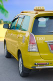 Parking yellow taxi Royalty Free Stock Images