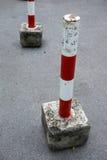Parking zablokowania przyrząd w czerwonym i białym Obrazy Royalty Free