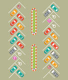 Parking zone conceptual Vector Illustration. Stock Image