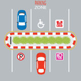 Parking Zone. Parking Zone design, Lady parking, disabled, no parking, vip parking, Vector Illustration Stock Photo