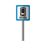 Parking zone design. Parking zone road sign icon over white background. colorful design.  illustration Stock Photography