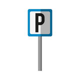 Parking zone design. Parking zone road sign icon over white background. colorful design.  illustration Royalty Free Stock Image