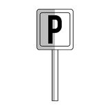 Parking zone design. Parking zone sign over white background.  illustration Stock Photo