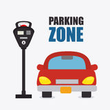 Parking zone graphic design. Parking zone graphic, vector illustration eps 10 Royalty Free Stock Photos