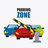 Parking zone graphic design Royalty Free Stock Images
