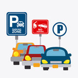 Parking zone graphic design Stock Image