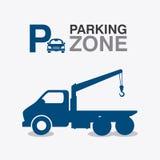 Parking zone graphic design Stock Image