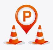 Parking zone graphic design Stock Photo