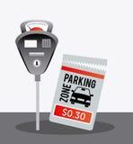Parking zone graphic design Stock Photos