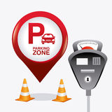 Parking zone graphic design Royalty Free Stock Photos