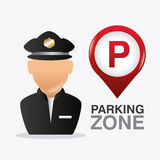 Parking zone graphic design Stock Images