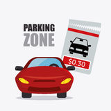 Parking zone graphic design Royalty Free Stock Photo