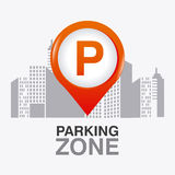 Parking zone graphic design Royalty Free Stock Photography