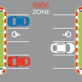 Parking Zone3. Royalty Free Stock Image