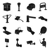 Parking zone set icons in black style. Big collection of parking zone vector symbol stock illustration Royalty Free Stock Photos