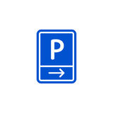 Parking zone to right roadsign isolated Royalty Free Stock Photography