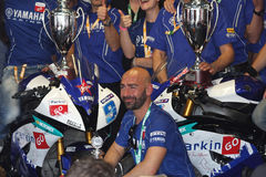 ParkinGo Yamaha team Supersport champion Royalty Free Stock Image