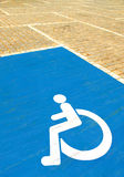 Parkingspace for disabled Royalty Free Stock Photography