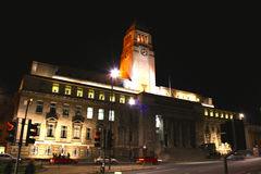 Parkinson Building, Leeds University. This is an image of the Parkinson building at Leeds university, taken at night Stock Photography