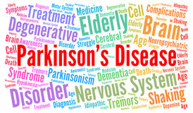 Parkinson& x27 ; nuage de mot de la maladie de s illustration libre de droits