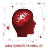 Parkinson ` s choroby świadomości plakat ilustracja wektor