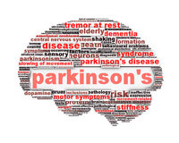 Parkinson's disease conceptual design. Isolated on white. Mental health symbol concept Royalty Free Stock Photography