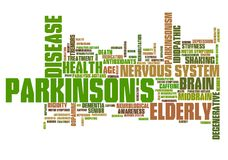 Parkinson`s. Disease - health concepts word cloud illustration. Word collage concept royalty free illustration