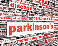 Parkinson's disease message design Stock Images