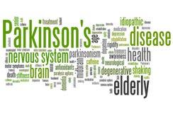 Parkinson's disease. Problems - health concepts word cloud illustration. Word collage concept stock illustration