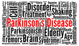 Parkinson`s disease word cloud concept. Illustration royalty free illustration