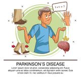 Parkinsons disease infographic. Icon vector illustration graphic design royalty free illustration
