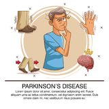 Parkinsons disease infographic. Icon vector illustration graphic design vector illustration