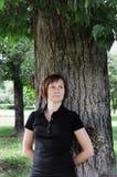 parkkvinna Royaltyfri Foto