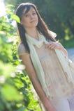 parkkvinnabarn Royaltyfri Foto