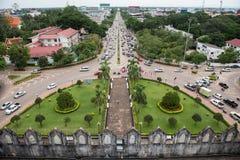 Parkland do memorial de guerra de Patuxai Fotos de Stock Royalty Free