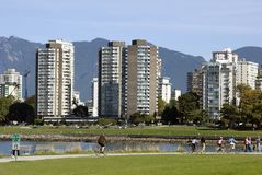 Parkland in downtown Vancouver Stock Image