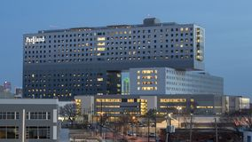 Parkland Memorial Hospital, Dallas, Texas. Pictured is Parkland Memorial Hospital, Dallas County`s public hospital. It was originally founded in 1894. The newest stock image