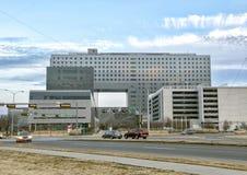 Parkland Memorial Hospital, Dallas, Texas. Parkland Memorial Hospital is located in Dallas, Texas, United States. It serves as Dallas County`s public hospital Stock Photography