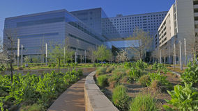 Parkland remains one of the busiest public hospitals in the nation, with more than 1 million patient visits each year. Street view of the new Parkland hospital Royalty Free Stock Image