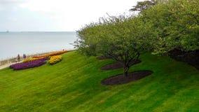 Parkland Wzdłuż jezioro michigan obrazy royalty free