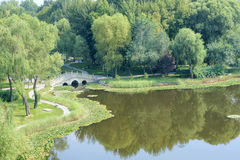 Parklandschaft Lizenzfreies Stockbild