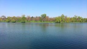 Parklandschap in de Stad van Boekarest stock footage