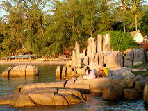 parkohsolnedgång thai tao Royaltyfri Fotografi